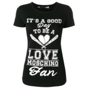 """Love Moschino """"it's A Good Day"""" Black T-Shirt"""